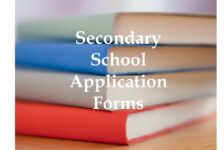 Secondary School Application Forms